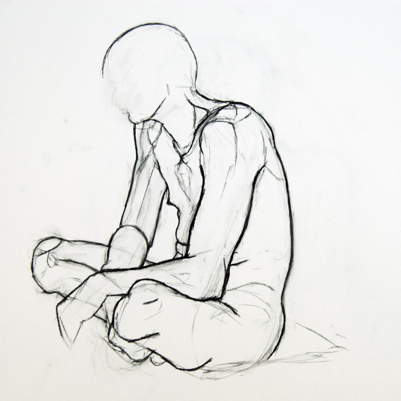 Drawing Of A Man Sitting | www.imgkid.com - The Image Kid ...